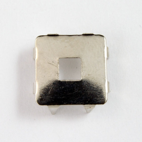 10mm Silver Square Prong Setting