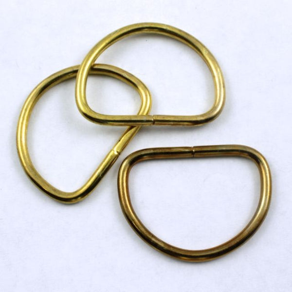 32mm Raw Brass D-Ring
