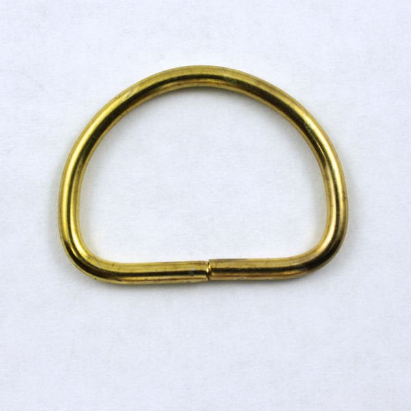 32mm Raw Brass D-Ring (2 Pcs) #280