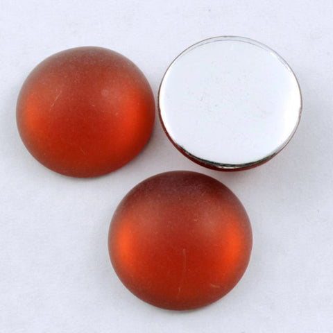 18mm Round Frosted Terracotta Cabochon #284-General Bead