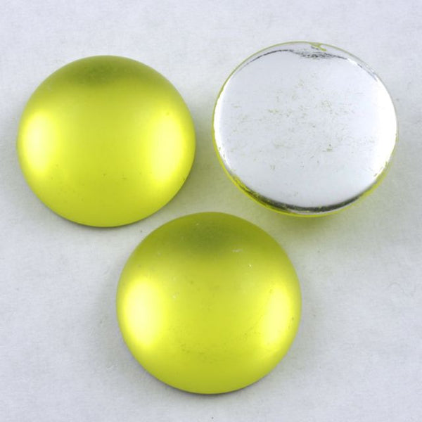 20mm Frosted Lemon Cabochon #287