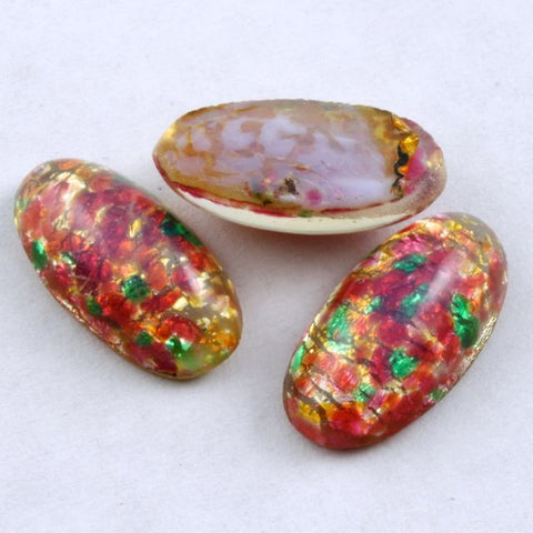 9mm x 17mm Pink Opal Glass Cabochon #XS76-A-General Bead