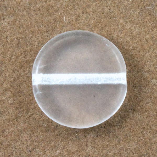 10mm Clear Flat Disc Bead