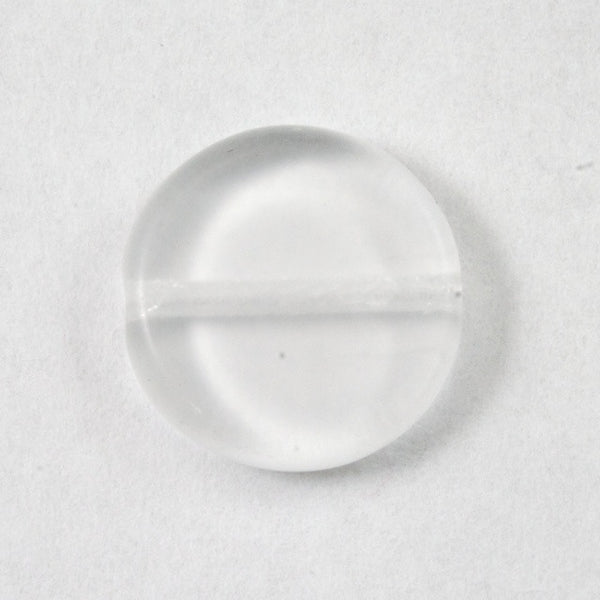 10mm Clear Flat Disc Bead (10 Pcs) #2966