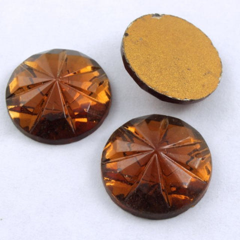 15mm Smoked Topaz Faceted Cabochon #299-General Bead