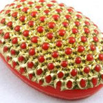 13mm x 18mm Gold on Red Cabochon #XS3-H