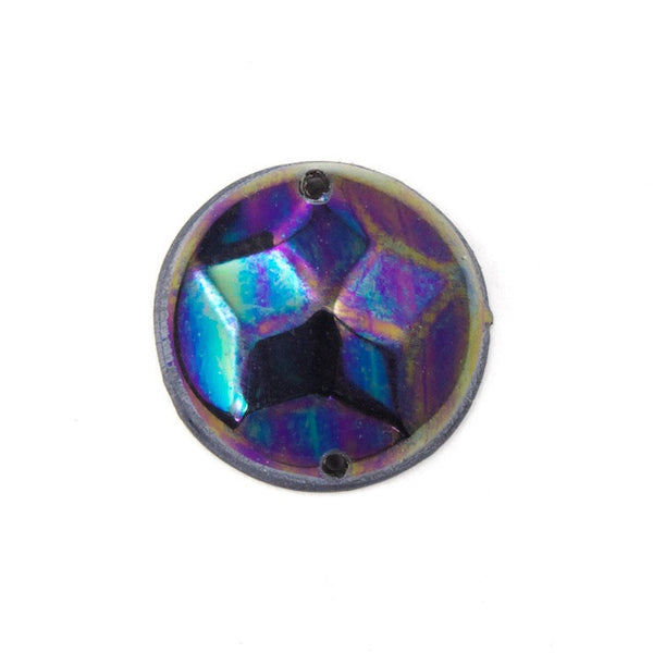 12mm Jet AB Star Dome Sequin