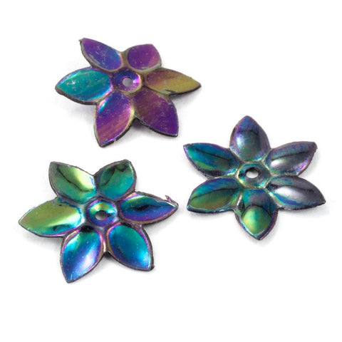 8mm Jet AB Flower Sequin-General Bead