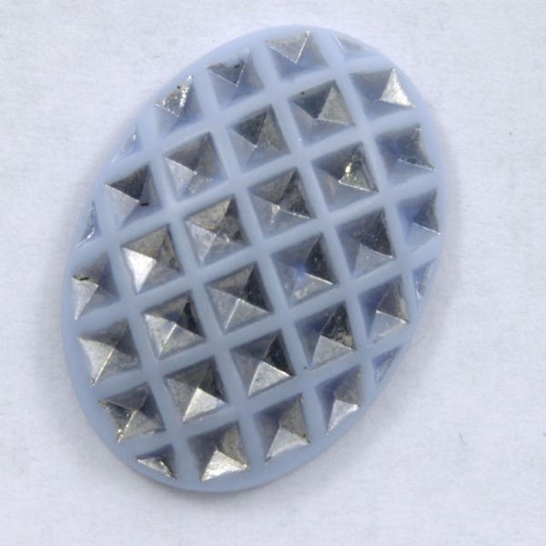 18mm x 25mm Light Blue and Silver