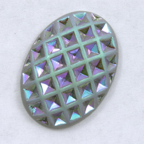 18mm x 25mm Grey and Iridescent #XS1-E-General Bead