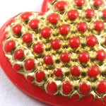 15mm Gold on Red Heart #XS3-A-General Bead