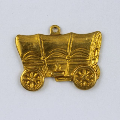 20mm Raw Brass Covered Wagon