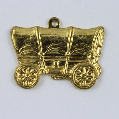 20mm Gold Colored Covered Wagon