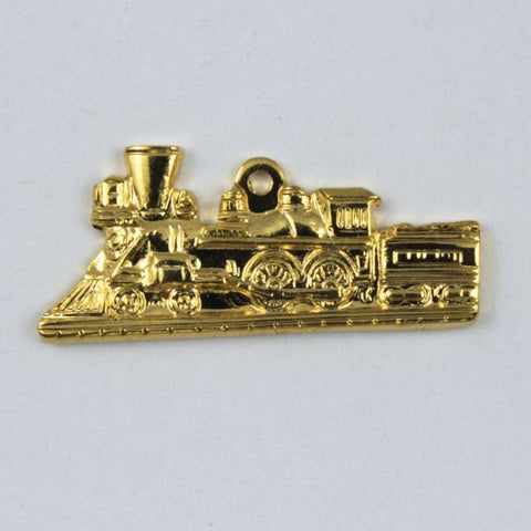 25mm Gold Colored Locomotive
