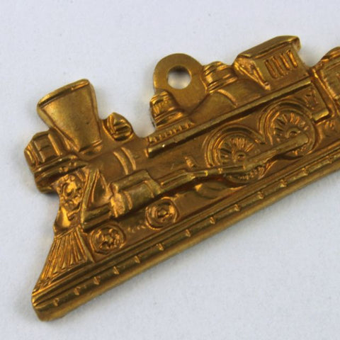 25mm Raw Brass Locomotive