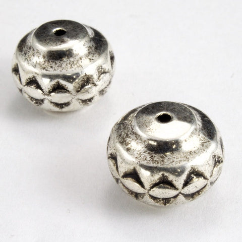 15mm Antique Silver Decorative Drum-General Bead