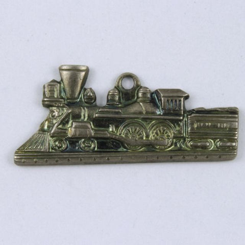 "1"" Antique Silver Locomotive Charm #317"