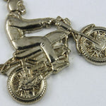 22mm Silver Colored Motorcyle with Rider #319-General Bead