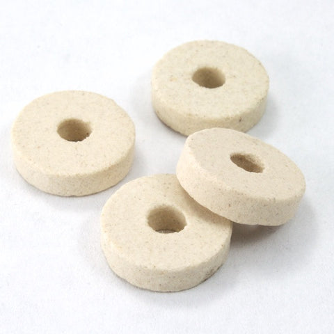 11mm Cream Clay Disc Bead-General Bead