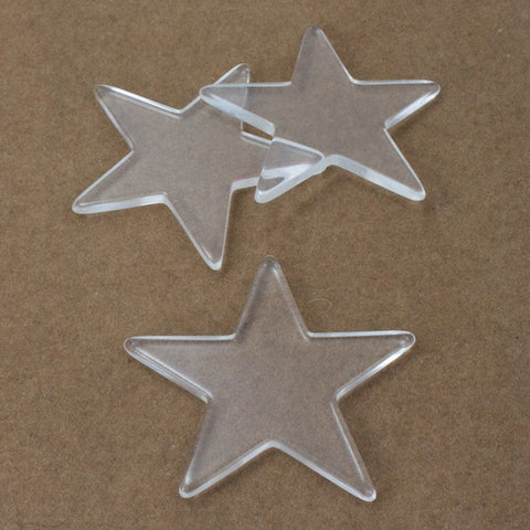 42mm Clear Star Blank (2 Pc) #3277-General Bead