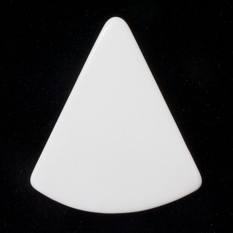 40mm White Wedge Blank (2 Pcs) #3292