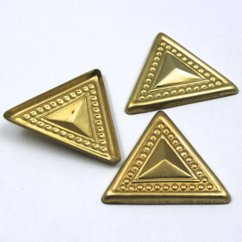 50mm Raw Brass Dotted Triangle (2 Pcs) #32