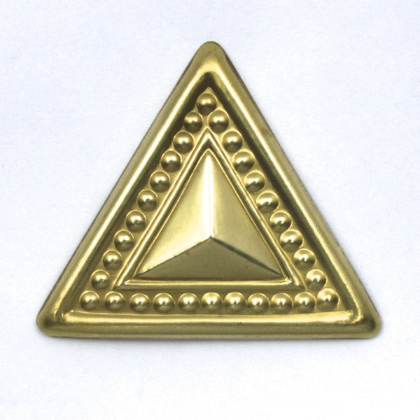 50mm Raw Brass Dotted Triangle