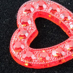 15mm Ruby Open Heart #XS9-E-General Bead