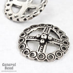 22mm Antique Silver Four Directions Symbol-General Bead