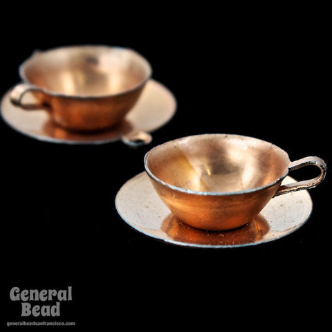 20mm Copper Cup and Saucer Charm SOLD OUT-General Bead