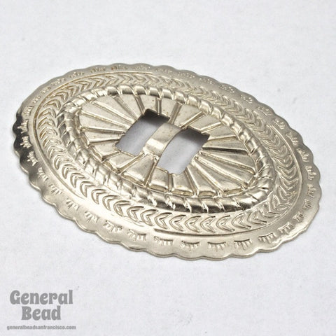 40mm x 50mm Silver Oval Concho (2 Pcs) #3420