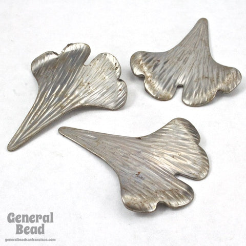 35mm Steel Gingko Leaf-General Bead