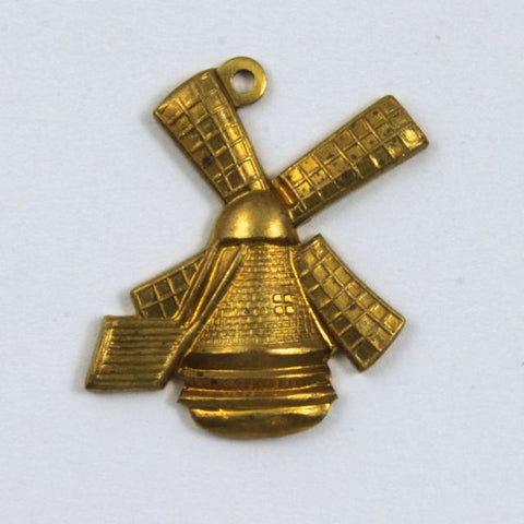 19mm Raw Brass Rustic Windmill