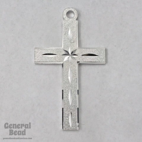 70mm Silver Tone Aluminum Cross-General Bead