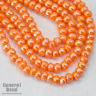 8/0 Luster Orange Charlotte Cut Seed Bead-General Bead