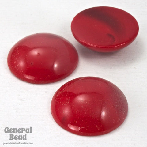 20mm Cherry Red Cabochon (2 Pcs) #3509-General Bead