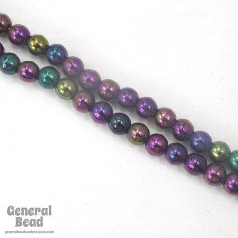 5mm Purple Iris Druk Bead-General Bead