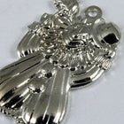 20mm Silver Clown Charm (4 Pcs) #351-General Bead