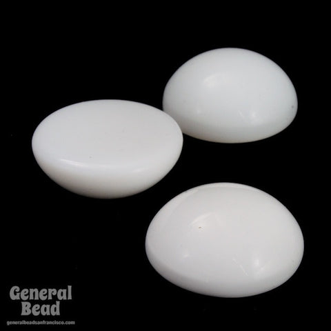 18mm Chalk White Cabochon (2 Pcs) #3545-General Bead