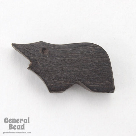 9mm x 20mm Carved Wood Animal Bead-General Bead