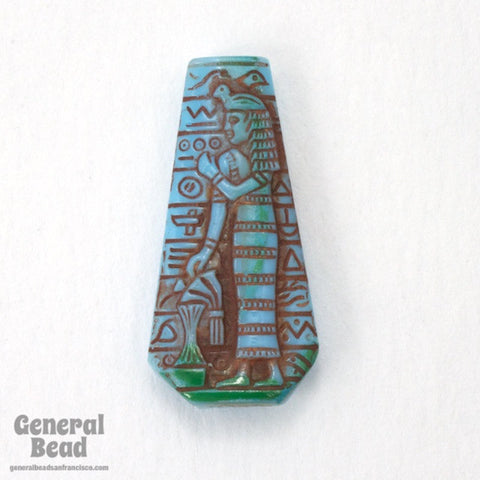 18mm x 30mm Turquoise Egyptian Revival Cabochon