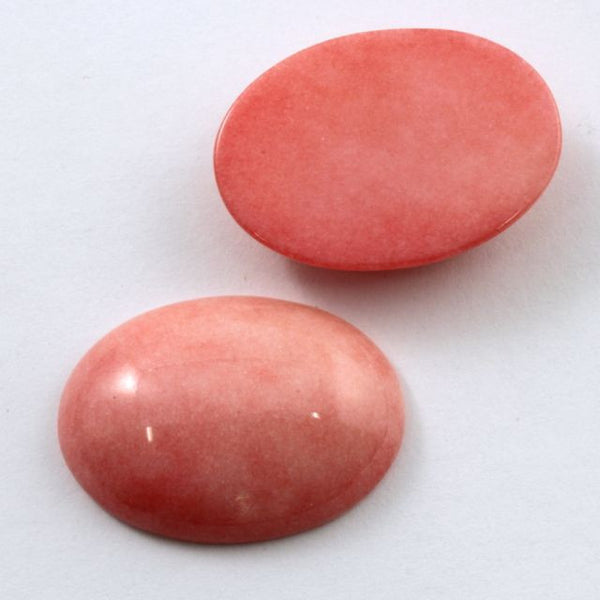 18mm x 25mm Light Pink Oval Cabochon