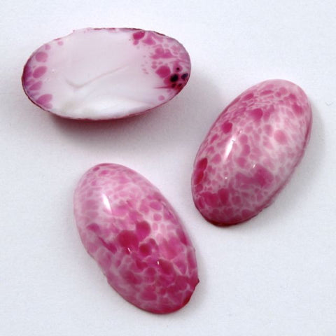 14mm x 25mm Mottled Pink Oval Cabochon #XS14-E-General Bead