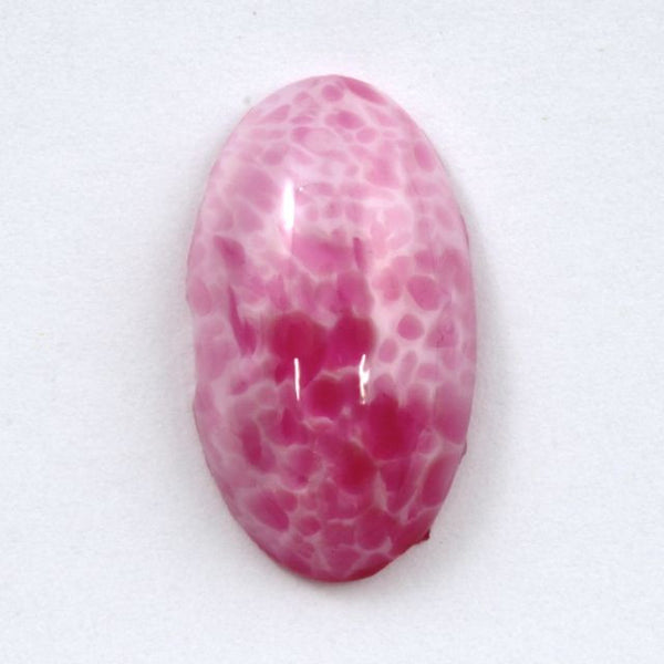 14mm x 25mm Mottled Pink Oval Cabochon