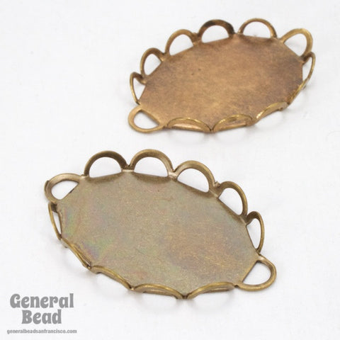 18mm x 25mm Brass Lace Edge Cabochon Setting