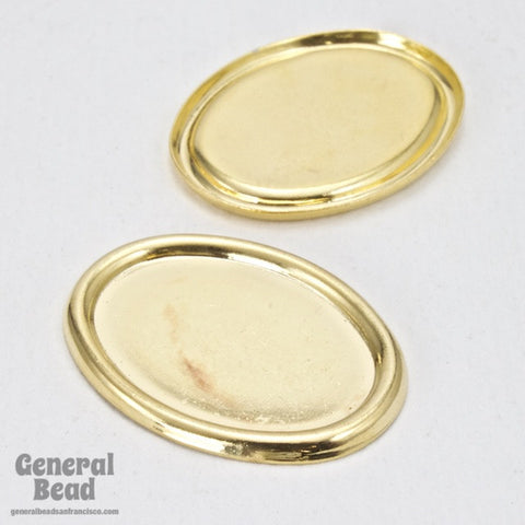 13mm x 18mm Gold Oval Cab Setting-General Bead