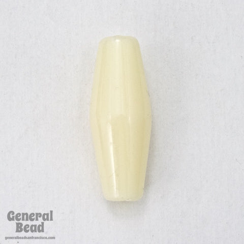 1 Inch Off White Lucite Hair Pipe (10 Pcs) #3719-General Bead