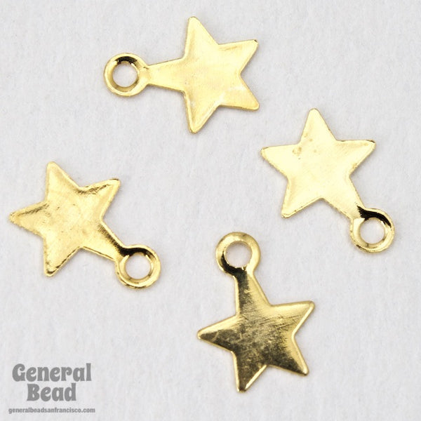 6mm Gold Tone Star Charm
