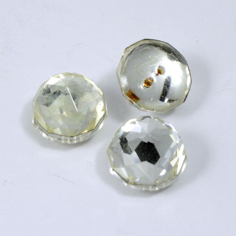 13mm Round Clear Faceted Cabochon #XS24-D-General Bead