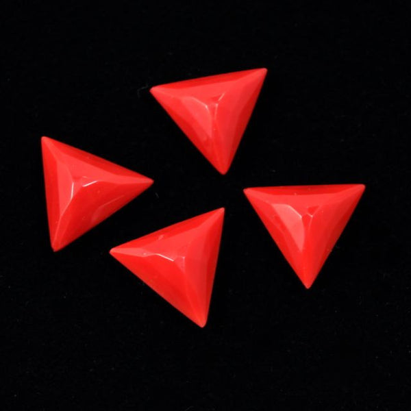 13mm Opaque Red Triangle Cabochon #XS30-F